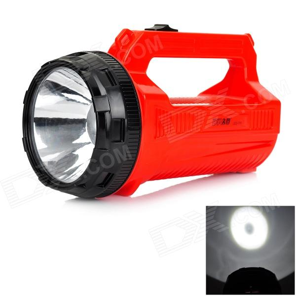 DP LED-776 1W 800mAh 60lm 2-Mode Rechargeable LED Flashlight - Red + Black