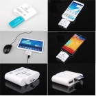5-in-1 Micro USB OTG Adapter / SD / SDHC / MMC / RS MMC / TF Card Reader - White