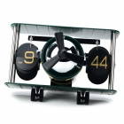 HY-F029-G Aircraft Style Paging Desk Clock - Army Green + Black