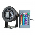 10W RGB LED Dimming Memory Underwater Lamp w/ Remote Controller