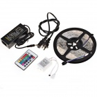 Waterproof 36W 1200lm 300 x SMD 3528 LED RGB Light Strip + 24-Key Controller + US Plugs Adapter Set