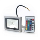 ZHISHUNIJIA 10W 900lm LED 7-Color Project Light w/ Remote Controller - Silver Black (85~265V)