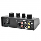 Professional Karaoke Sound Mixer Microphone Amplifier - Black