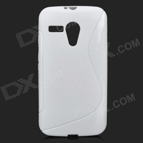 """S"" Style Protective TPU Back Case for MOTO G - White"