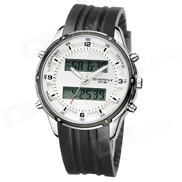 EYKI 8569 Men's Multi-Functional Sports Mechanical Wrist Watch - Black + White (1 x 10#)
