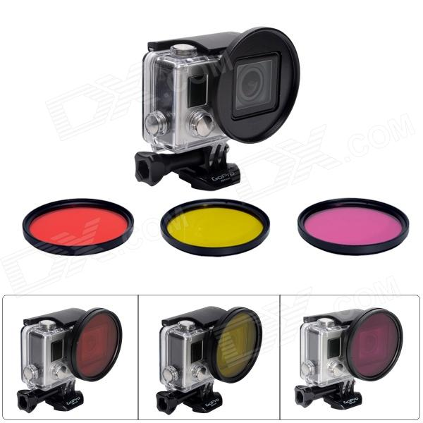 Fat Cat Professional 58mm Underwater Color-Correction Dive Filter Kit  w Converter for GoPro Hero3