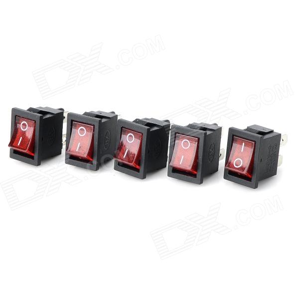 14020902 DIY Red Light Rocker Switch - (5PCS)