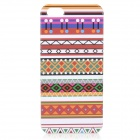 Slim Tribal Style Protective Plastic Back Case for IPHONE 5 / 5S - White + Red + Multi-Colored