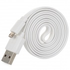 Green Connection USB to Micro USB Flat Charging/Data Cable for Samsung / HTC - White (100cm)