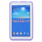 """X"" Style Anti-Slip Protective TPU Back Case for Samsung Galaxy Tab 3 Lite T110 - Purple"