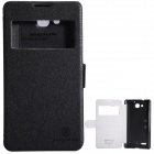NILLKIN Protective PU Leather + PC Case Cover for HUAWEI Honor 3X (G750) - Black