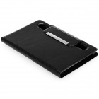 "Foot Adjustable Universal PU Leather Case w/ Stand for 7"" Tablet PC - Black"