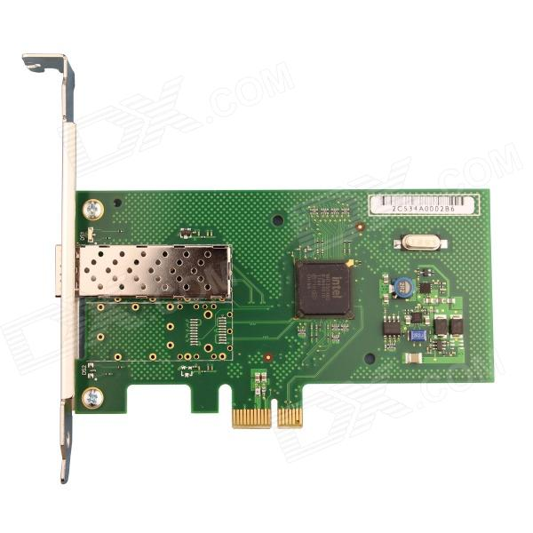 Winyao WYI350F1SFP SFP Gigabit Ethernet PCI Express Server Adapter w/ Intel I350 Chipset - Green