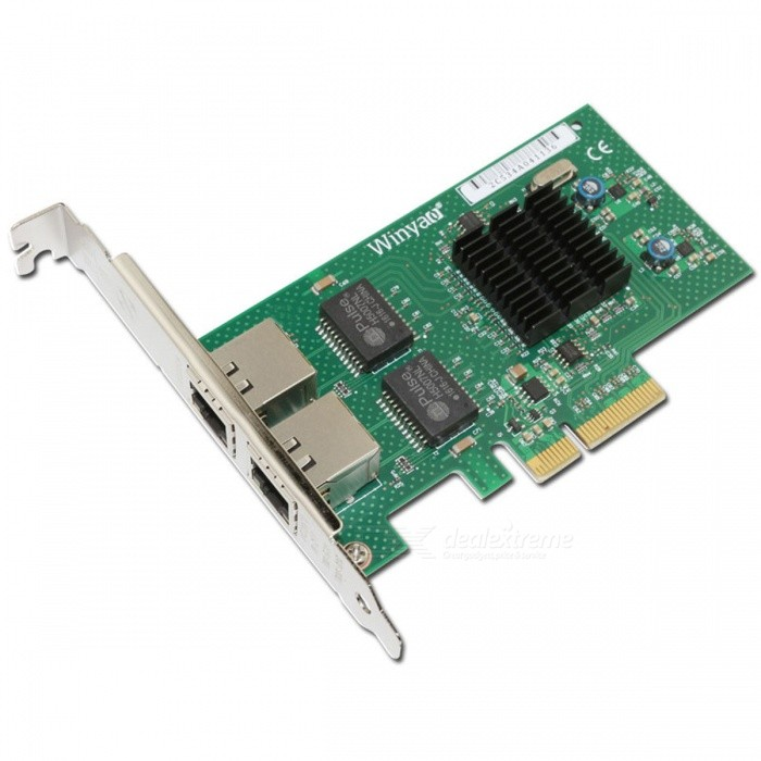 Winyao-WY576T-Dual-Port-Copper-Gigabit-Ethernet-PCI-Express-Server-Adapter-w-Intel-82576-Chipset