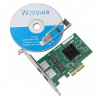 Adaptador Winyao WY576T de doble puerto Gigabit de cobre Ethernet PCI Express Server w / Intel 82576 Chipset