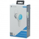 Syllable D80-004 Bluetooth v4.0 Headset w/ Microphone for IPHONE - Grass Green + White