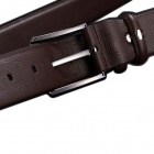 JAMRESVCK HY08 Men's Square Grain Split Cowhide Waist Belt - Coffee