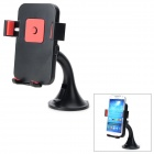 HL-91A Universal 360 Degree Rotatable ABS Mobile Phone Suction Cup Mount Holder - Black