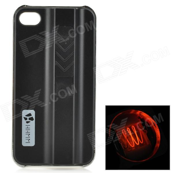 Creative Protective ABS Back Case w/ Cigarette Lighter for IPHONE 4 / 4S - Black + Silver