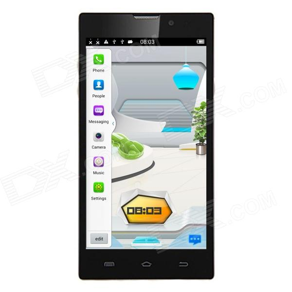 "AMPE A50 Quad Core Android 4.2.2 WCDMA Bar Phone w/ 5.0"", 1GB RAM, 8GB ROM, Bluetooth, GPS - Black"