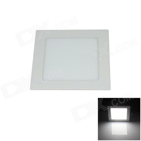 12W 1200lm 6000K 60-SMD 2835 LED Ultrathin Square White Ceiling Light w/ Driver - White (AC 85~265V)