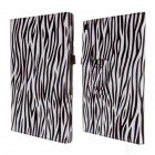 Stylish Protective PU Leather Case Cover Stand for Sony Xperia Tablet Z - Black + White