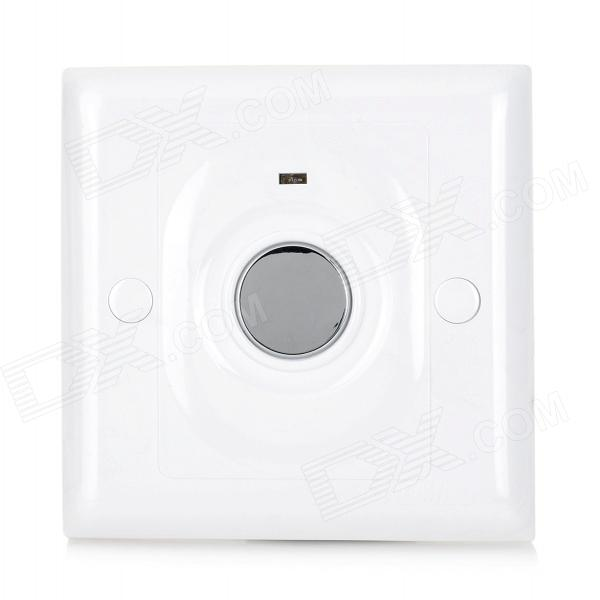 6A Touch Sensing Switch for Incandescent Lamp - White + Silver (AC 175~250V)
