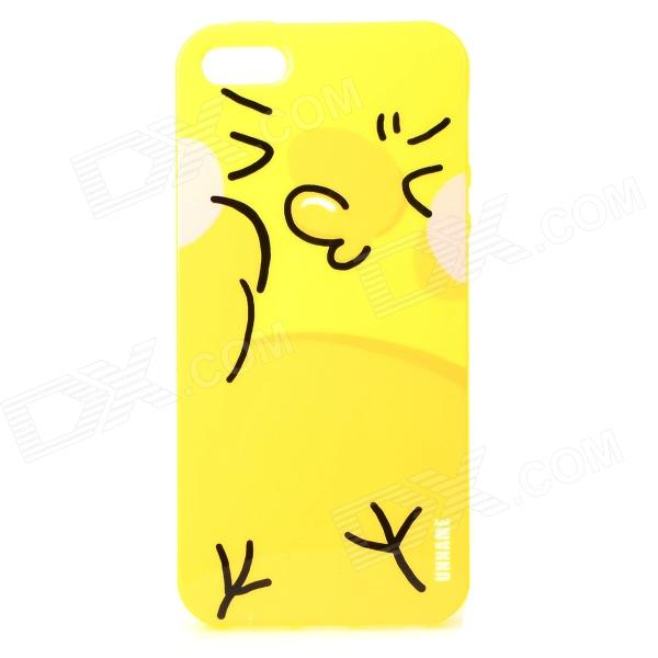 UNNAME ONE-011 Cute Cartoon Style Protective TPU + Silicone Back Case for IPHONE 5 / 5S - Yellow