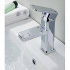 Copper Cube Washbasin Faucet - Silver