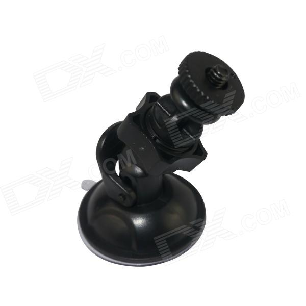 "BZ150 360' Rotating Car Mount Suction Cup Holder for GPS / 1/4"" Camera / SJ4000 - Black"