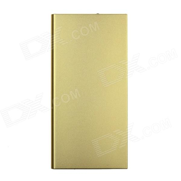 ZHILIPINYANG PY8088 10000mAh Dual-USB Power Source Bank for IPHONE / Phone / MP3 / MP4 / PSP -Golden
