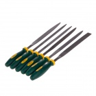 Professional Plastic + Alloy 6-in-1 Files Set - Green