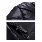 Men's Fashionable Casual Cozy Warm Keeping Blending + Rayon Jacket - Black (Size XL)