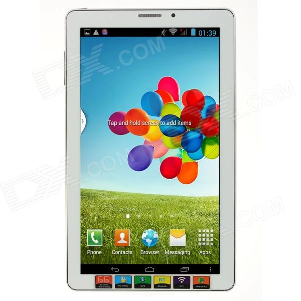 "9"" Dual-Core Android 4.2 Phone Tablet PC w/ 512MB RAM, 4GB ROM, FM, Bluetooth, GPS - White"