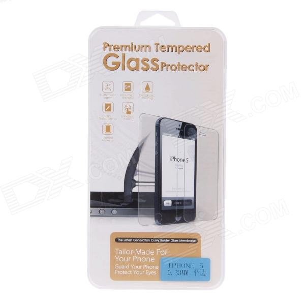 Premium Tempered Glass Flat Edge Screen Protector for IPHONE 5 - Transparent