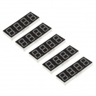 "8041BS 3"" 4 Digit Common Anode Red LED Digital 7-Segment Display - Black + White (5 PCS)"