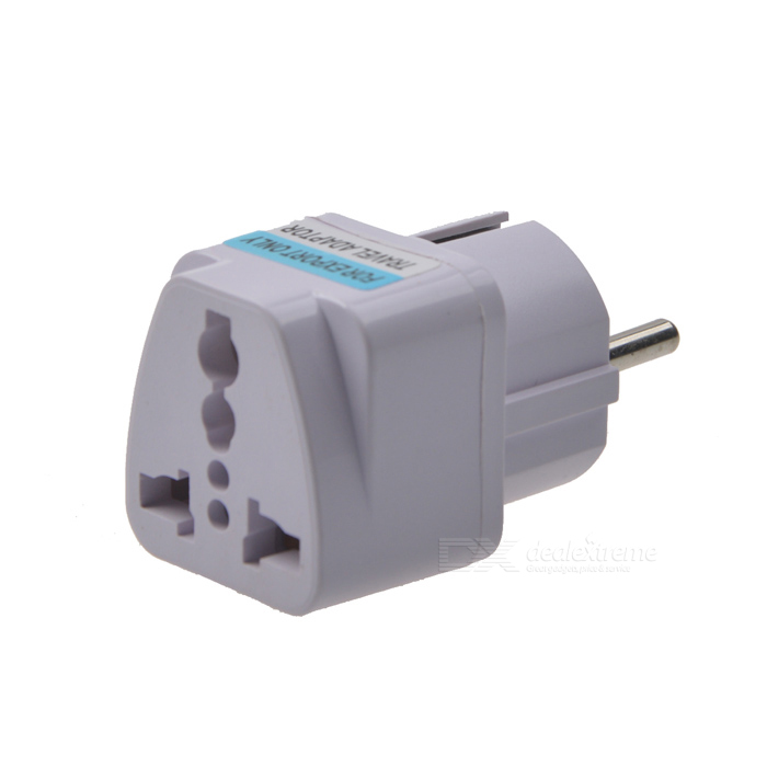 Buy AYA-K9 Universal European Plug Travelling Power Adapter - White with Litecoins with Free Shipping on Gipsybee.com