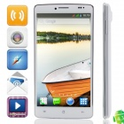 "MP707(MP) MTK6582 Quad-core Android 4.3.0 WCDMA Bar Phone w/ 5.0"" IPS HD, FM, Wi-Fi and GPS - White"