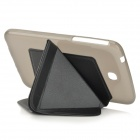 Transformable Protective PU Leather + PC Case for Samsung Galaxy Tab 3 7.0 T210 / T211 - Black