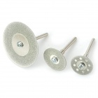 10-in-1 Electric Grinder / Hanging Mill Accessory Diamond Cutter Blades Set - Silver