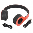 SHIKE Fashion Wireless Bluetooth V2.0 Headband Headphone w/ Mic for Cellphones - Red