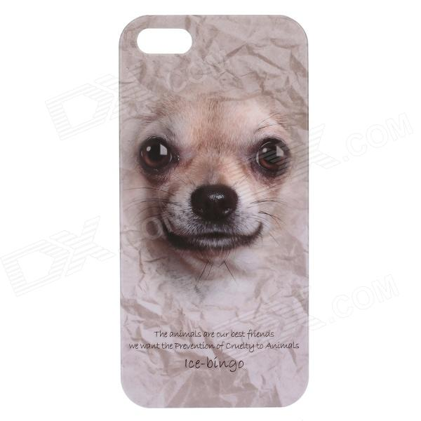 C200005 Animal Series Cute Dog Style Protective Plastic Back Case for IPHONE 5 / 5S - White