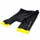 TOP CYCLING SAK206 Silicone Pad Cycling Quick-Drying Short Pants - Black + Yellow (Size XL)