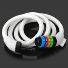 ZhongLi 87610 Bicycle Anti-theft Soft Coded Lock - White + Multi-Colored