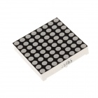 1588BS 2.1 Inch Lattice 8*8 Common Cathode Anode Red LED Digital Display - Black + White (5 PCS)