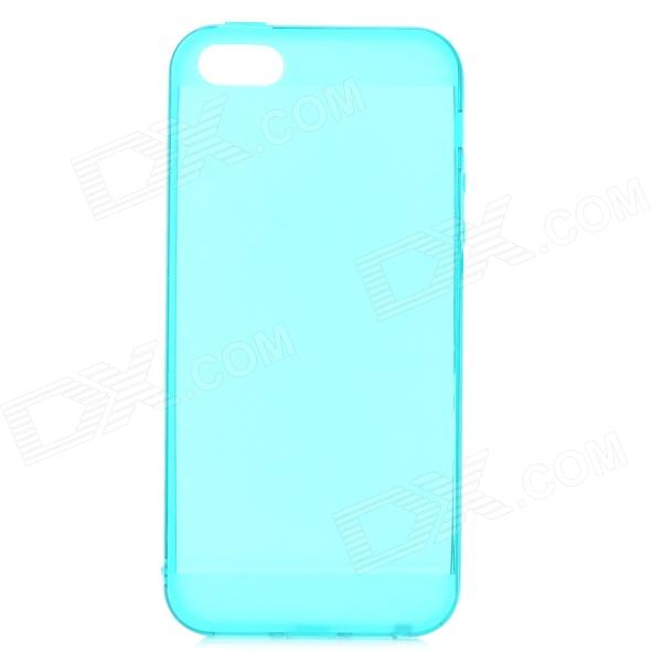 Dx coupon: S-What Stylish 0.5mm Thin TPU Back Case w/ 3.5mm Anti-dust Plug for IPHONE 5 / 5S - Green