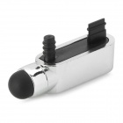 S-What Data Port + Earphone Jack Anti-Dust Plug w/ Stylus Pen for IPHONE 5 / 5S - Silver