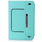 "PU Leather Case Stand w/ Silicone Suction Cup Holder / Magnetic Closure for 7"" Tablet PC - Blue"