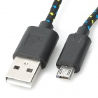 USB to Micro USB Data Nylon Cable for Galaxy P5200 - Black (3m)