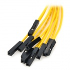 LSON LSON -10 Doble Sugerencia Dupont Cable Amarillo + Negro (10PCS)